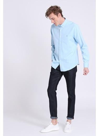 Lufian Slim Fit Uzun Kollu Gömlek Mavi